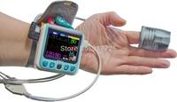 Sphygmomanometer 2.4 LCD wrist blood pressure monitor ECG oxygen finger pulse respiratory health NIBP heart rate monitor SPO2