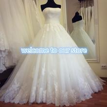 Vero made nuovo senza spalline appliques a-line abiti da sposa 2015 pizzo stunning abiti da sposa W2215 principessa vestido de noiva moderna  (China (Mainland))