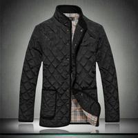 jacket men plaid dimond stand collar wadded mens jackets coats winter parkas jacket coat s m l xl xxl xxxl 4xl 5xl 6xl
