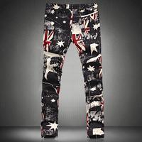 Joggers Men 2015 Novelty Flag Print Long Casual Trousers Pants Plus Size Joggers Sweatpants Asia size 5xl 4xl 3xl 2xl xl l m