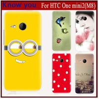 New 2015 Exclusive Design Cartoon Comic Print Hard Plastic case For HTC ONE M8 mini2 case fits HTC ONE mini2 phone cover