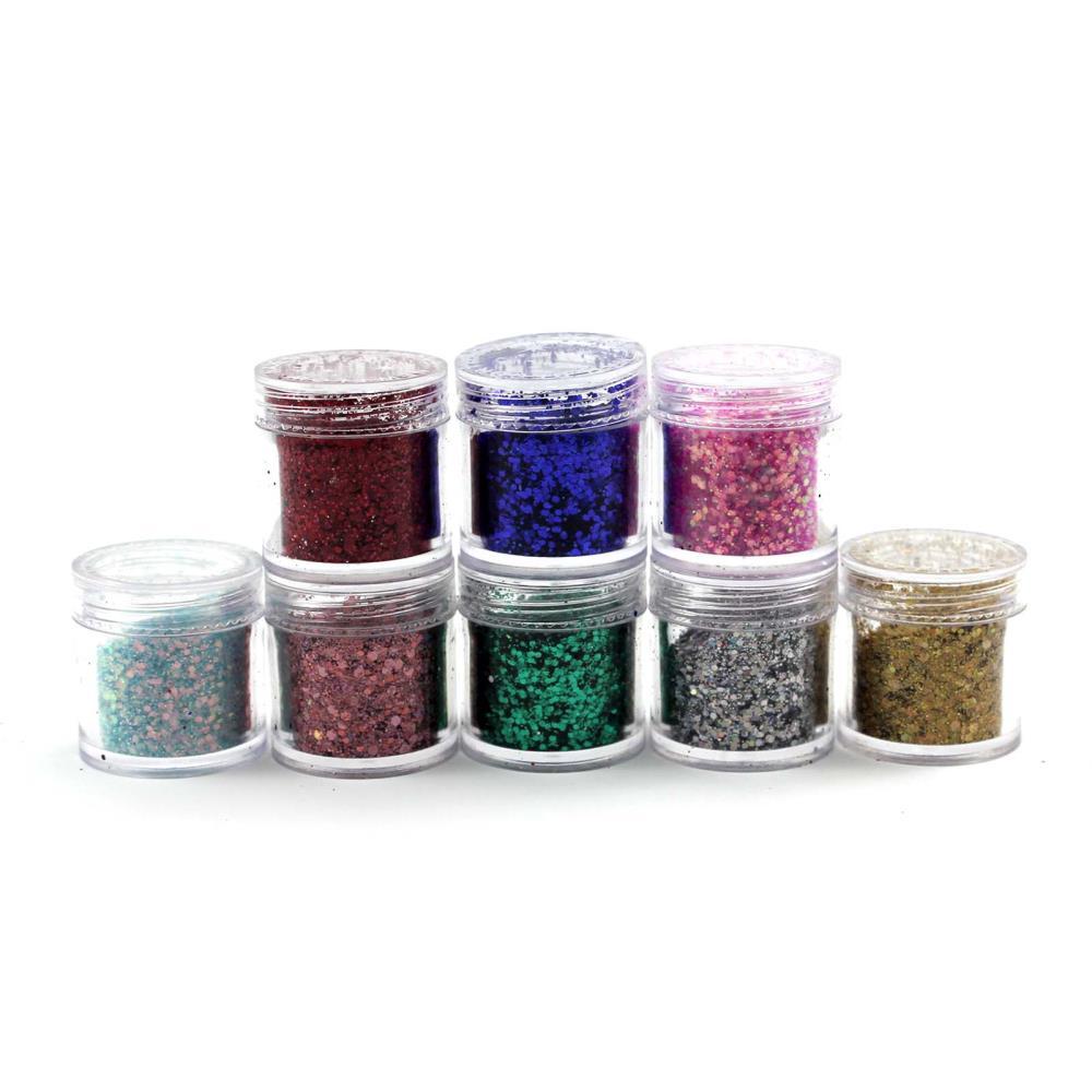 New 8Pcs/Lot Women Nail Art Body Glitter Shimmer Dust Powder For uv gel DIY Nail Decoration(China (Mainland))