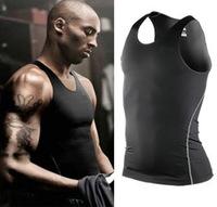 Men Sports Vest Shirt Compression Baselayer Tank Top Underwear Athletic Tops