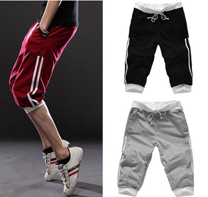 mens short pants casual sports shorts fashion sweatpants joggers pants for boys large big size XXL outdoor sports clothes(China (Mainland))