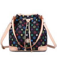 BRIGGS Brand Bag European and American Style Colour Printing PU Leather Handbags Women Messenger Bags Shoulder Bag BUCKET 2015