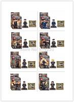 80PCS SY260 Building Blocks Super Heroes Avengers Minifigures SWAT Minifigures Bricks Toy for Children DIY Bulilding Blocks
