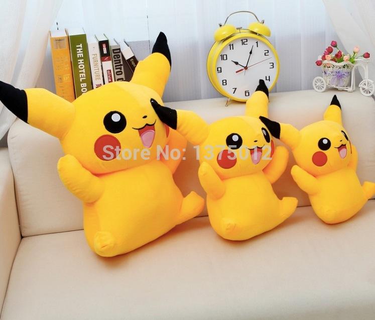 Cartoon movie doll Pikachu stuffed animal Plush Toy 20/30/40cm Pokemon lovely doll For Children baby kid Gift free shipping(China (Mainland))