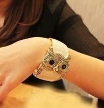 Korean Enamel wide exaggerated owl  bracelets bangles/kpop luxury pulseras mujer/pulseiras femininas brazalete/coruja/buho/hibou