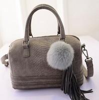 2015 new women handbag winter fashion hair bulb wave bag handbags wholesale fashion handbags brands women messenger bags