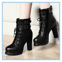 Fashion Boots for Women Non-slip Female High Heel Boots Fashion Casual Boots Platform High Heel Autumn & Winter Boots