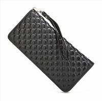 new women purse genuine leather purse for women fashion brand design Printed grid pattern high-capacity leather purse handbags