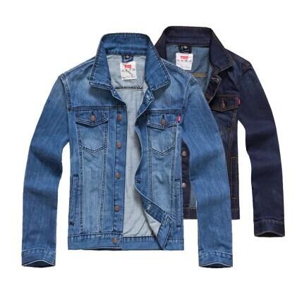 Jeans Jacket Men 2015 Spring Autumn Men's Long Sleeve Denim Jacket Fashion Blue Jean Jackets Men Slim Vintage Chaqueta M-3XL 22(China (Mainland))