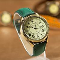5 Colors New Arrival Vintage Leather Strap Roman numerals Watch Fashion Women Dress Watches Quartz Wristwatch