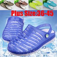 Plus Size 36-45 New 2015 Male Women Sandals Jelly Hole Shoes Beach Flat Shoe Lovers Casual Shose Women'S Slip-Resistant Shoes