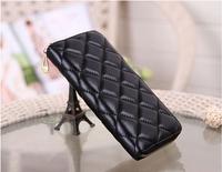 new women purses genuine sheepskin leather purse for women brand design quilted plaid zipper sheepskin leather clutch purse