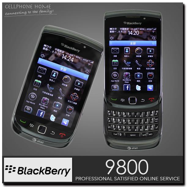 "9800 Unlocked Original Blackberry 9800 Touch cellphone 4GB storage 3.2"" TFT Screen 5MP BlackBerry OS 6.0 QWERTY KeyPad WIFI 3G(China (Mainland))"