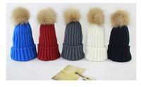 Wholesale 10pcs Novelty Women Knitted Pom-pom Skull Beanies Caps Winter Mens Striped Knit Beanie Cap COOL Mens Skull Hat