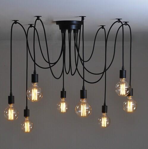 bulb pendant chandelier modern vintage loft bar restaurant bedroom