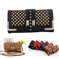 New vintage leather women wallets,dollar price women clutch,spot small women shoulder bag