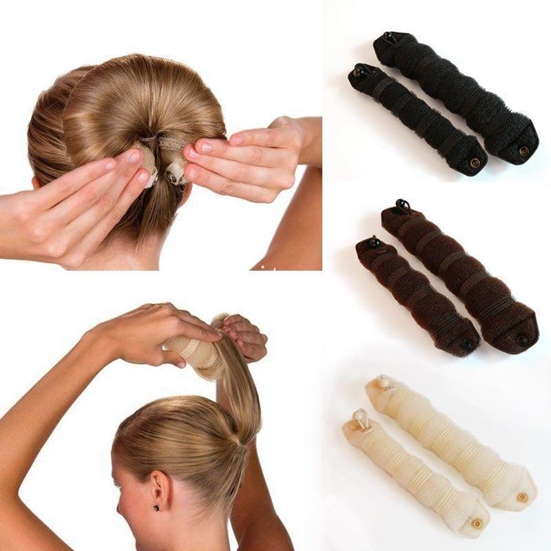 Как сделать бублик на голове с помощью специальной заколки