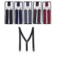 Best Suspenders Men Adjustable 3.5cm Width*110L  Black Suspenders Belt Braces Men For Gift Free Shipping