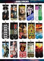 Free shipping Cotton men's 3D Printed Socks emoji Printing ODD Socks chinelo masculino Towel Bottom Sport Socks 240w