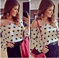 2014 New spring Fashion women blouse Casual Shirt Loose Fit Long Sleeve Blusas femininas Free Shipping CS4163