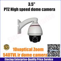 "10xzoom 540TVL 1/3"" CCD PTZ dome camera security,3.5"" Indoor  mini high speed dome camera,Color 480TVL B/W 540TVL"