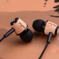Freeshipping !!! Awei Q5 wooden earphone 3.5mm fashion nice gift mobile phone mp3 earphone headphones
