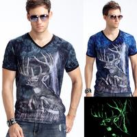 2015 new Arrival fashion men short t-shirts V neck cotton t shirt for  man t shirts men's tshirt Free shiping