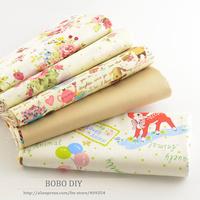 5 pcs 40cmx50cm 100% Cotton Fabric For Sewing Fat Quarter Quilting Patchwork Tissue Tilda Doll Cloth Kids Bedding Textile