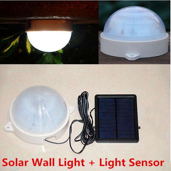 Lampadaires solaires lampes mur extérieur éclairage de jardin solaire panneau solaire alimenté led projecteurs à l'intérieur la lumière au plafond luminaria