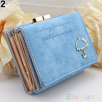 Женщин зонтик искусственной кожи клатч Trifold бумажник кредитная карта монет ID ...