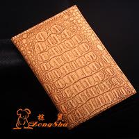 2015 new crocodile pu leather passport cover men and women fashion passport holder waterproof passport bag wallet card holder