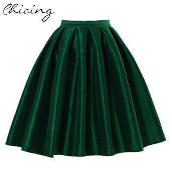 Большой размер XXL старинные женщины юбка мода 2015 зима весна высокая талия бальное ...