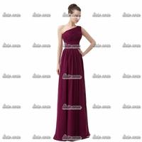 Free Shipping Retail One Shoulder Evening Dress Elegant Blue Microfiber Sweetheart Beading Dress Party Evening Elegant Size2-26w