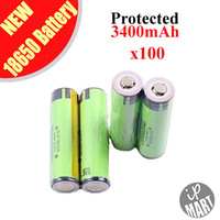 FS! 100% Original NCR18650B 18650 battery Protected Rechargeable Li-ion Battery 3.6V 3400mAh with PCB For Panasonic 100PCS/LOT