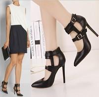 2015 new women pumps sandalsdesigner pumpshigh heels sexy high heels women shoes thin heel shoes black pointedb toe pumps