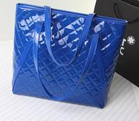 Women shoulder bags lady patent pu leather big Portable handbags Black shopping bags BIG TOTE Fashion plaid bag Korean style