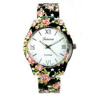 2015 New Fashion Flower Design Lady Women Girl Dress Gift Quartz Wrist Watch Casual wristwatch Relogio clock Female Reloj mujer