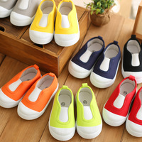 free shipping baby footwear boys and girls children slip-on canvas shoes 8colors size 13-17