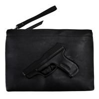 do not miss it !!! 3d cartoon pistol rock punk PU Leather bag gun bag messenger handbags women Gun bag women day clutches