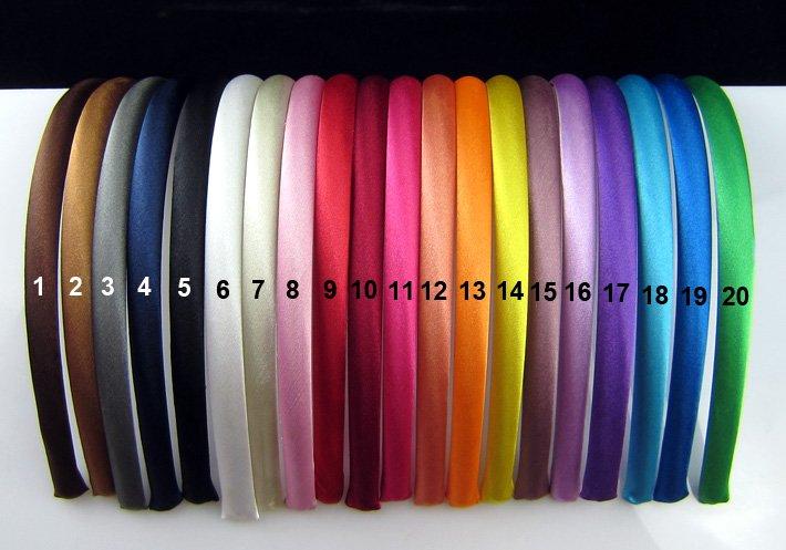 Free Shipping!10 mm Colored Satin Covered Resin Hairbands,Fashion Hair Band,Baby Headband,Hair Accessories 10pcs/lot(China (Mainland))