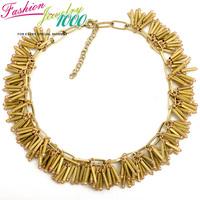 Bohemian Ethnic Tassel Sticks Metal Collar Bib Necklace Fashion Brand Chunky Statement Choker Charm Jewelry for Women Gift Party