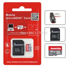 Real capacity Red Micro SD Card 4G 8G 16G 32GB 64gb Memory Card Flash Class10 TF
