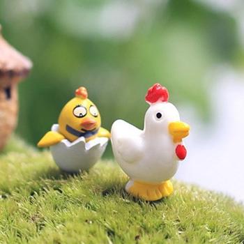 1 шт. петух желтый белый чик 2.7 см миниатюры чик волшебный сад гном мосс террариум домашнего декора ремесла бонсай домашнего декора для DIY