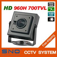 SNO Specialty 1/3'' Sony 960H CCD Effio 700TVL 0.001LUX Covert Mini Video Surveillance Hidden Security CCTV Camera Pinhole Lens
