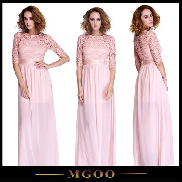 2015 женщин кружева шифон лоскутное Пром бальное платье коктейль мода женск