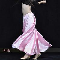 Satin Long Skirt Swing Skirt Belly Dance Costumes 14 colors