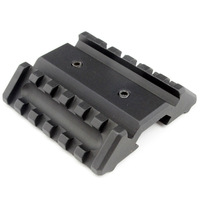Tactical Combat Airsoft Hunting Dual Offset Rail Interface 1913 picatinny rail Mount Base